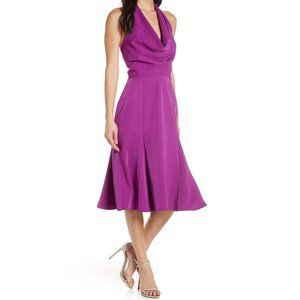 Harlyn NEW Halter Open Back Fit & Flare Dress